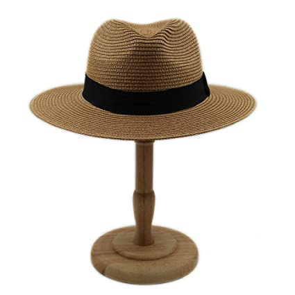 Image Unavailable. Image not available for. Color  XENO-Men Women Straw  Panama Hat Sombrero Fedora Trilby Cap Wide Brim Sunbonnet Sunhat( 313f77cdcac6
