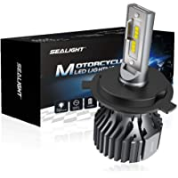 SEALIGHT H4 9003 LED Motorcycle Headlight bulbs, H4 LED Headlight Bulb Motorcycle, High Low Beam Replacement, 3000lm 6000k Extremely Bright Xenon White(pack of 1)