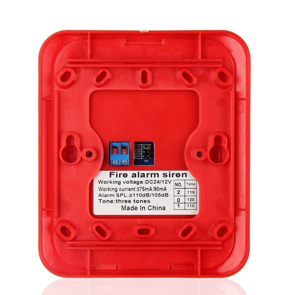 Lifesongs Sirena de alarma de incendio Strobe, alarma de incendio con luz estroboscópica Sistema de seguridad de alerta de sonido Sensor: Amazon.es: ...