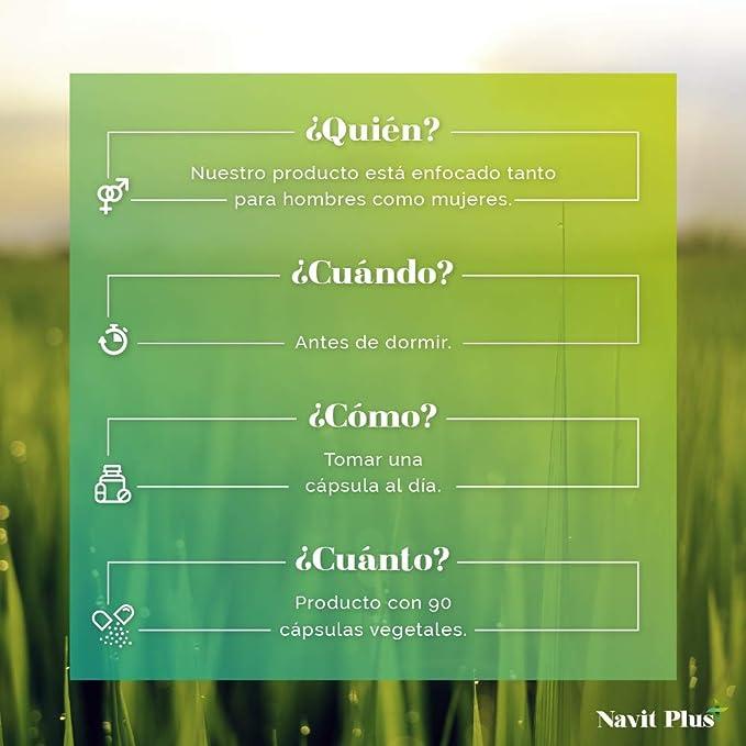 Melatonina + Magnesio + Melisa + Pasiflora + Valeriana + Tila ...