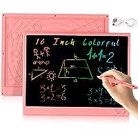 bhdlovely Tableta de Escritura LCD Tablero de Escritura 16 Pulgadas, Tablero de Dibujo electrónico Recargable USB…