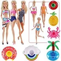 """E-TING Fashionistas 9PCS Doll Clothing Pack, 3 Sets 11.5"""" Girl Dolls Swimsuits with 3 Pairs Shoes and 3-Pieces Cute…"""