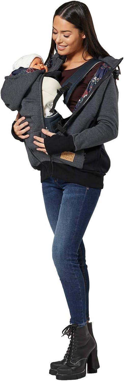 HAPPY MAMA Donne maternit/à Vello Felpa Cappuccio Pullover Porta Beb/è 1062