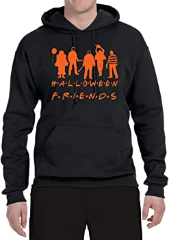 Friends Halloween Horror Adult Unisex Long Sleeve Hoodie