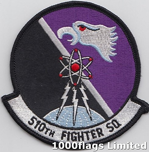 Us Air Force Squadron Patches - 510th Fighter Squadron US Air Force The Buzzards Embroidered Patch