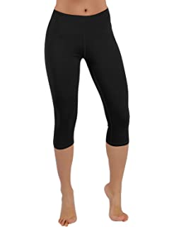 Amazon.com : Baleaf Women's High Waist Yoga Capri Leggings Tummy ...