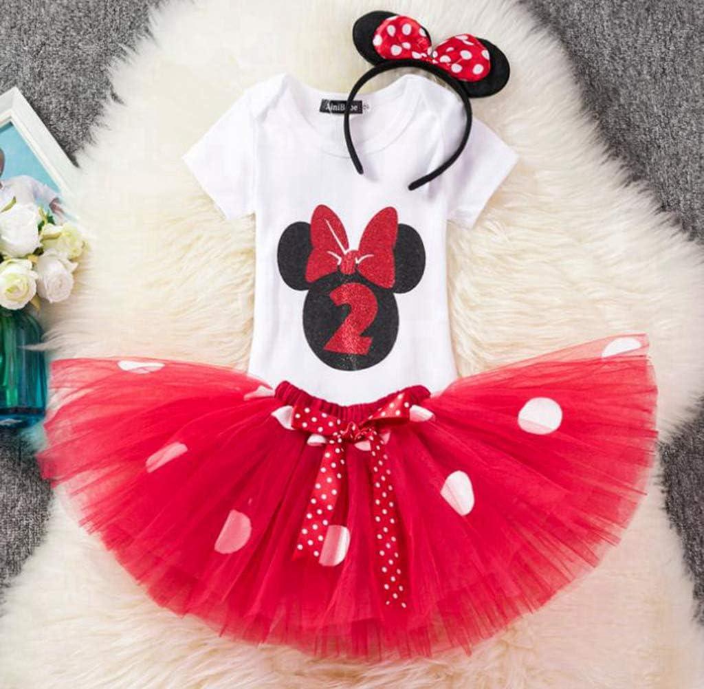 DMMDHR Halloween Tollder Girls Minnie Dot Conjunto de Ropa Niños ...