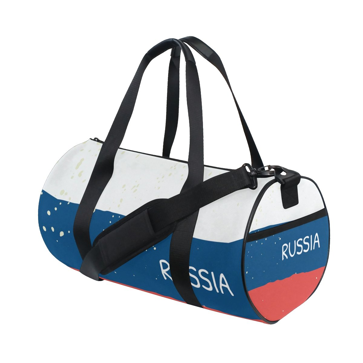 Distressed Russia Flag Travel Duffel Shoulder Bag ,Sports Gym Fitness Bags