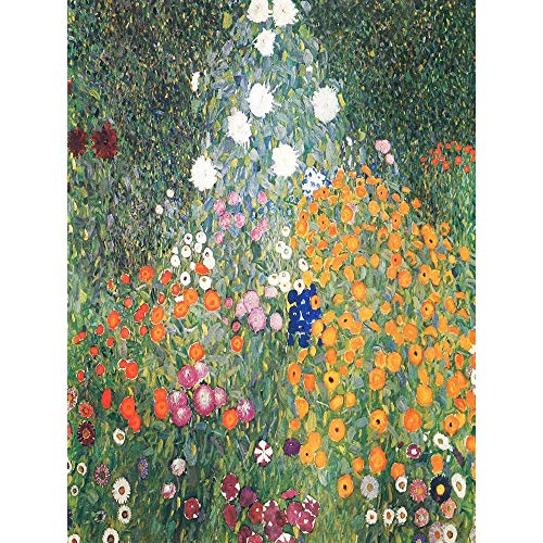 Wee Blue Coo Gustav Klimt Flower Garden 1907 Old Master Painting Unframed Wall Art Print Poster Home Decor Premium from Wee Blue Coo