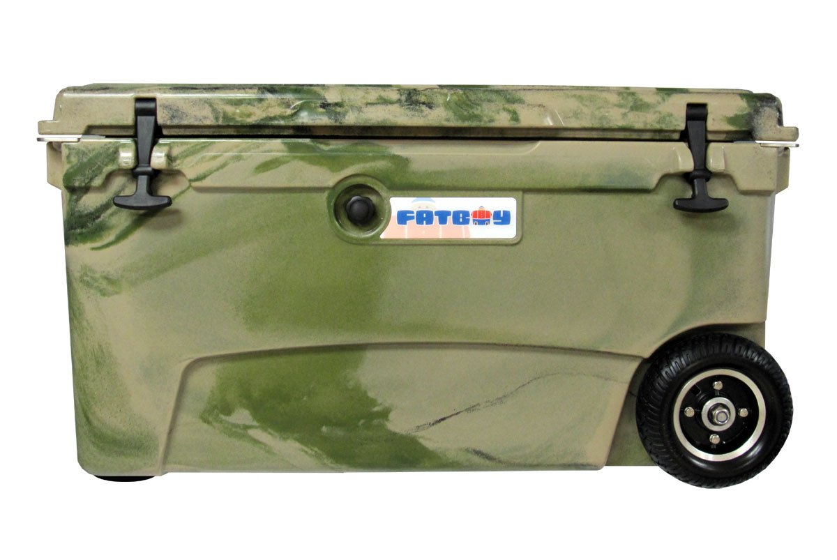 Fatboy 70QT Rotomolded Wheeled Chest Ice Box Cooler Army Camo