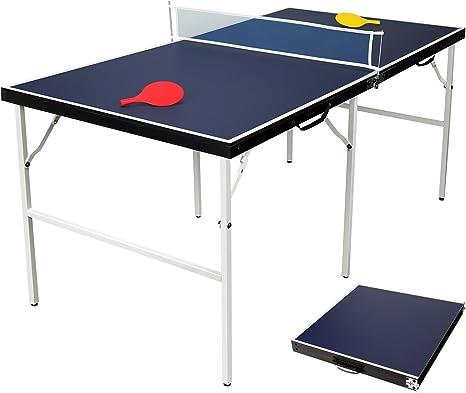 hlc Mesa de Ping-Pong para niños, Plegable, dimensión 154 x 77 x 69 CM,Color Azul: Amazon.es: Deportes y aire libre