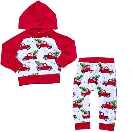 Newborn Toddler Baby Kid Girl Santa Tops Dress Pants Leggings Outfits Clothes US