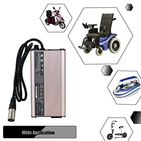 Amazon.com: 42 V 5A Scooter cargador de batería de litio Li ...