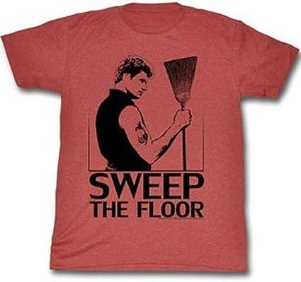 TV Store The Karate Kid Cobra Kai Sweep The Floor Adult Heather Red T Shirt