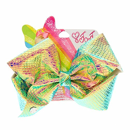 Claire's Girl's JoJo Siwa Large Iridescent Signature Hair Bow - Iridescent Bow