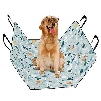 Amazon Com Vnaskl Dog Seat Cover Custom Terrazzo Flooring
