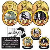 ELVIS PRESLEY Life & Times 24K Gold Plated Statehood Quarter 3-Coin Licensed Set