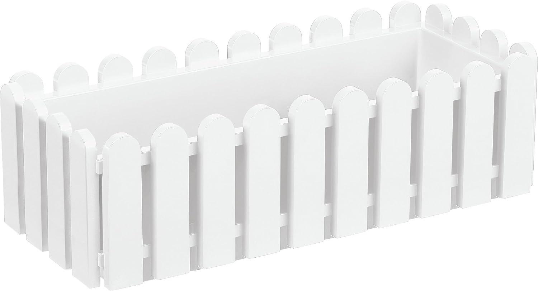 Emsa 956501200 Landhaus - Jardinera (47 cm), color blanco