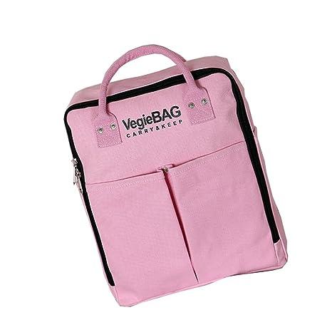 Deercon coreano Fashion lienzo al aire libre mochila bolsas de hombro mochilas bolsas bolsas de viaje bolsas de barril rosa rosa talla única: Amazon.es: ...