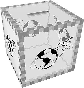 Avion de Papel Mundo Caja de Dinero / Hucha (MB00062231): Amazon.es: Juguetes y juegos