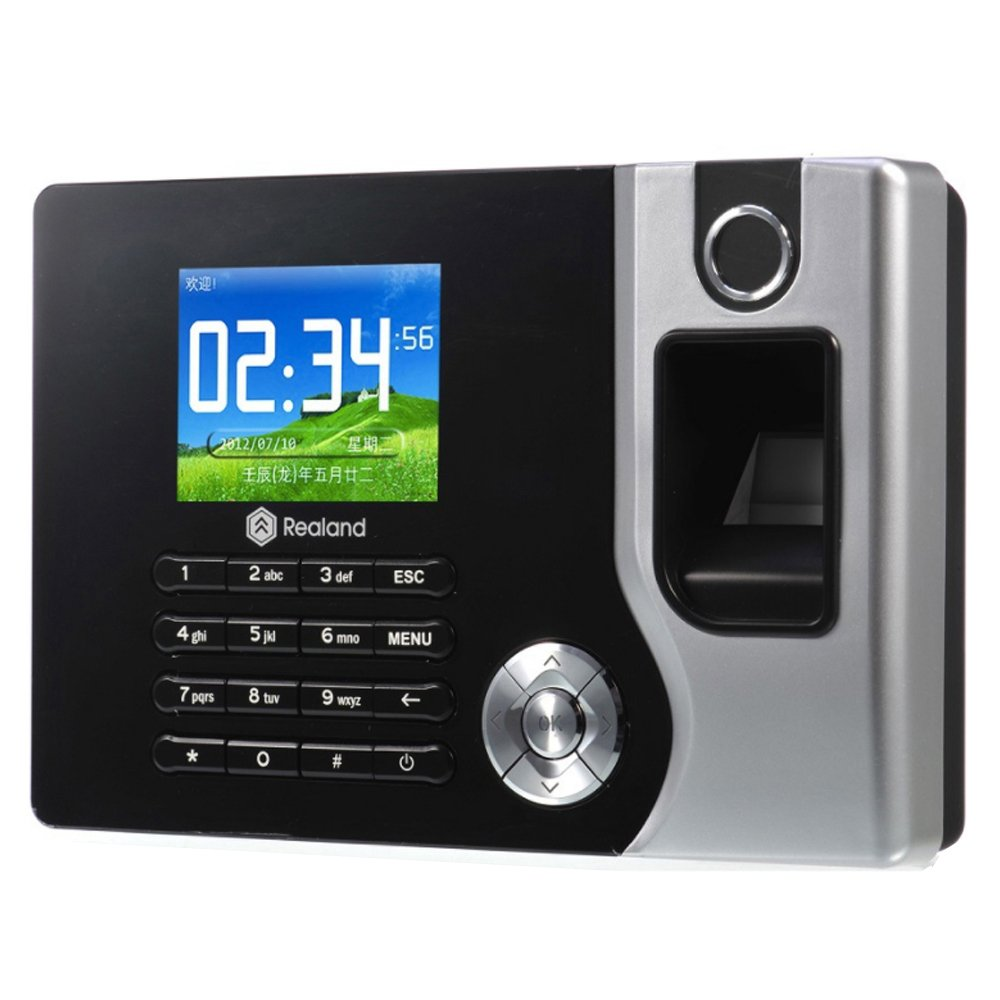 HFeng TCP/IP / USB Biometrico Fingerprint Time Clock Recorder Presenza Dipendente Macchina Punch Reader Elettronico Realand A-C071 da 2, 8 pollici