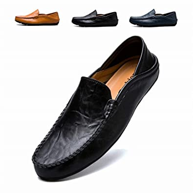 148d8766e0b RDGO Penny Loafers Men Shoes Slip On Moccasins Driving Shoes Lightweight  Flats Leather Casual Boat Shoes