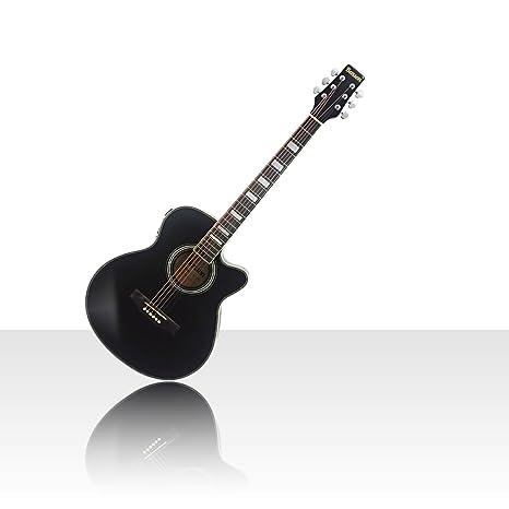 Benson S-Line eléctrico electro Semi Acústico Cuerpo Hueco para guitarra (cristal negro)