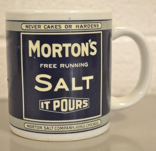 Amazon Com Morton S Salt It Pours Coffee Mug Kitchen Dining