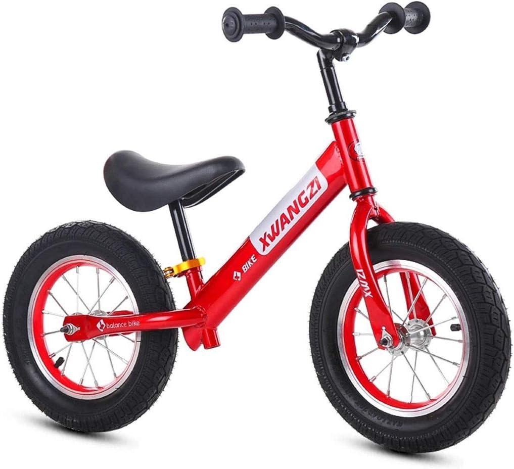 KELITE 12 Pulgadas Bicicleta de Equilibrio Deporte for bebés y niños 2, 3, 4, 5 y 6 años.Bicicletas Primer Entrenamiento sin Pedales.Bicicleta de Aprendizaje for niños y niñas