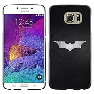 LECELL -- Funda protectora / Cubierta / Piel For Samsung Galaxy S6 SM-G920 -- Minimalist Bat Superhero Logo --