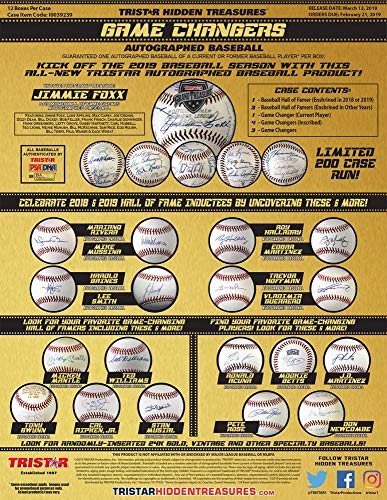 Autographed Baseball Box - 2019 Tristar Hidden Treasures Game Changers Autographed Baseball Box