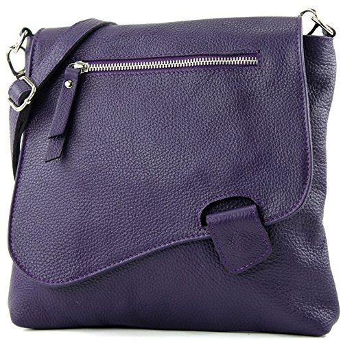 modamoda de de - ital de cuero bolso de las señoras bolsa de mensajero del bolso de hombro del bolso de cuero NT07 2en1, Präzise Farbe (nur Farbe):Dunkellila