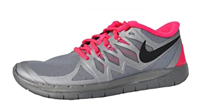 cheaper 080f9 396ce Nike Free 5.0 Flash Junior Running Shoe, Silver Pink, US4.5