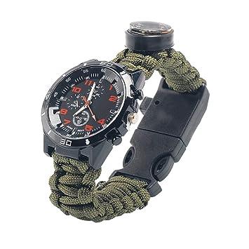 DMDQR Reloj Táctico Multifuncional Noche Impermeable Brújula Reloj Deportes Al Aire Libre Militar Termómetro Función Reloj
