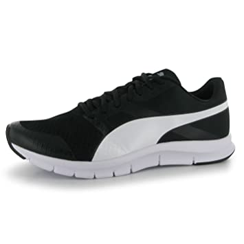 Puma Flex Racer Running Shoes Mens Black/White Fitness Sports Trainers  Sneakers (UK8)