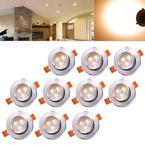 Hengda® - Luces LED de 3W de techo. Lámparas para salón o ...