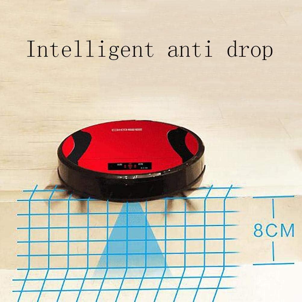 Lancer vide automatique de robot intelligent aspirateur balai balayage automatique mute ultra-mince collecteur de poussière intelligent, rouge,rouge Rouge