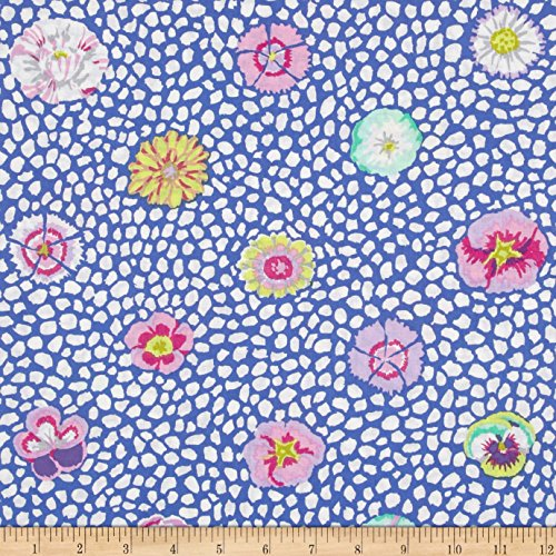 Kaffe Fasset Collective Guinea Flower Blue Fabric By The Yard