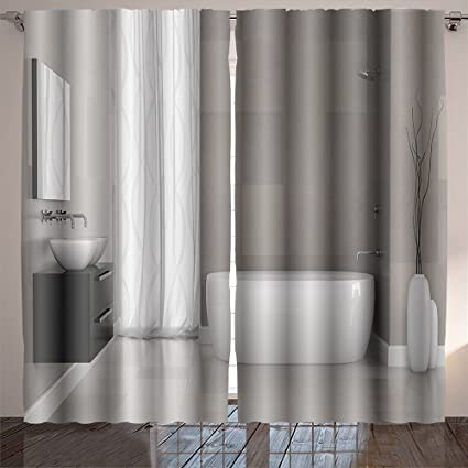 Amazoncom Homesonne Interior Of Modern Bathroom With Grey