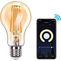 MoKo WIFI Inteligente Edison Bombilla A60, E27 7.5W LED Luz, Funciona con Alexa Echo, Google Home, SmartThings, Voz…