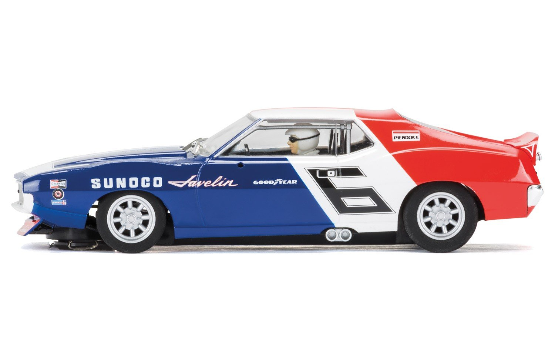 Scalextric 1971 Amc Javelin C3731 Scca Trans Am Watkins Glen Penske Racing #6 Mark Donohue Slot Car (1: 32 Scale)