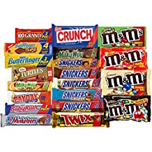 Chocolate Bars - Bulk Chocolate - Assorted Chocolates King Size Mix, All Your Favorite Chocolate Bars Including M&M, Snickers, Skittles, Twix and More, 20 Extra Large Bars (King Size)
