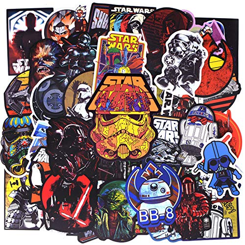 50 Pcs Star Wars Stickers for Skateboard Laptop Vinyl Decal Cool PVC Sticker