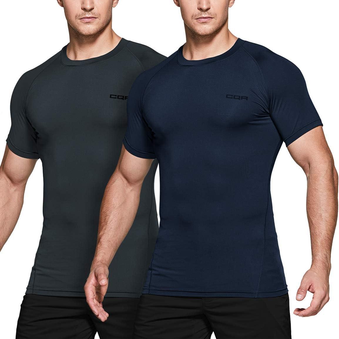 Mens Compression Short Sleeve Base Layer Tight Tops Gym Sports T-Shirt Basic HOT