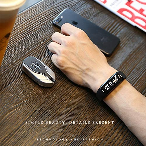 ydsb51384 Activity Tracker,Braccialetto Sportivo Impermeabile per Il monitoraggio della frequenza cardiaca con monitoraggio del Sonno, Bracciale Bluetooth per Uomo e Donna