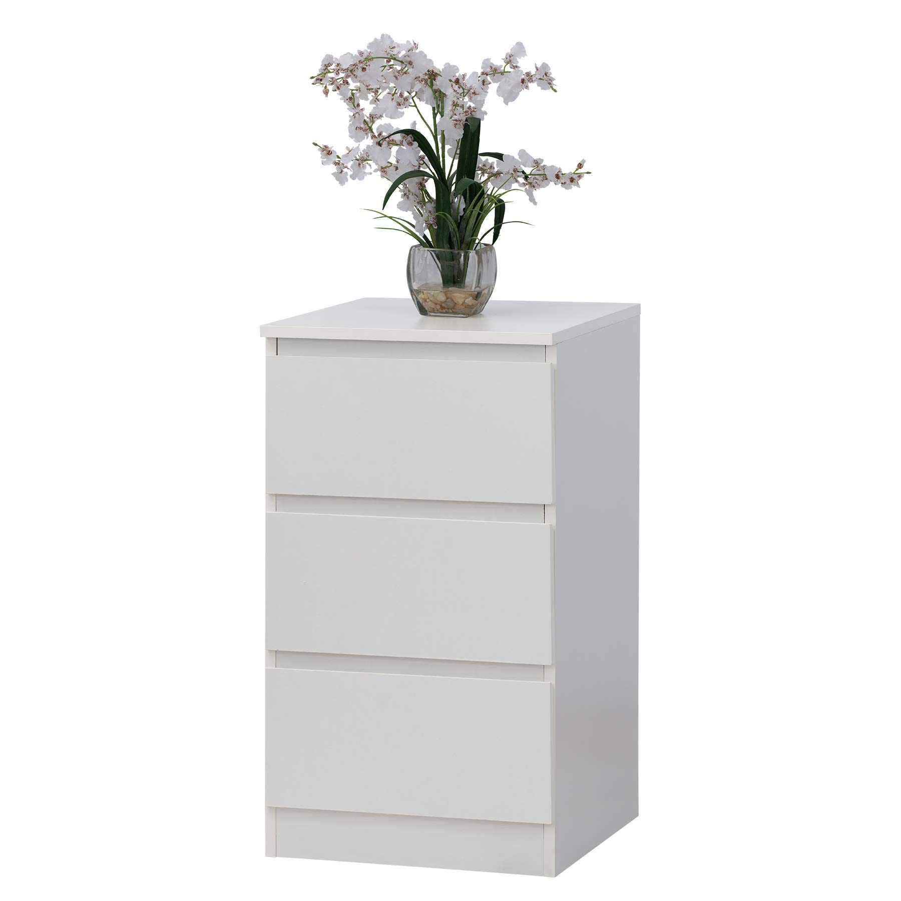 Fineboard FB-DS02-W Storage Dresser with 3 Drawers Universal Organizer Unit, White