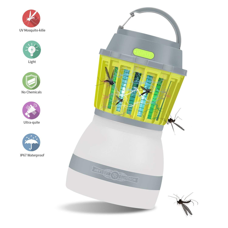 sconto online di vendita Y&XF Lampada da Campeggio Repellente per Insetti Insetti Insetti Anti Insetti Mosquito Killer 2 in 1 Luce per Insetti elettronici Tramite Ricarica USB, Impermeabile IP67, Trappola per Insetti per Escursioni in  outlet