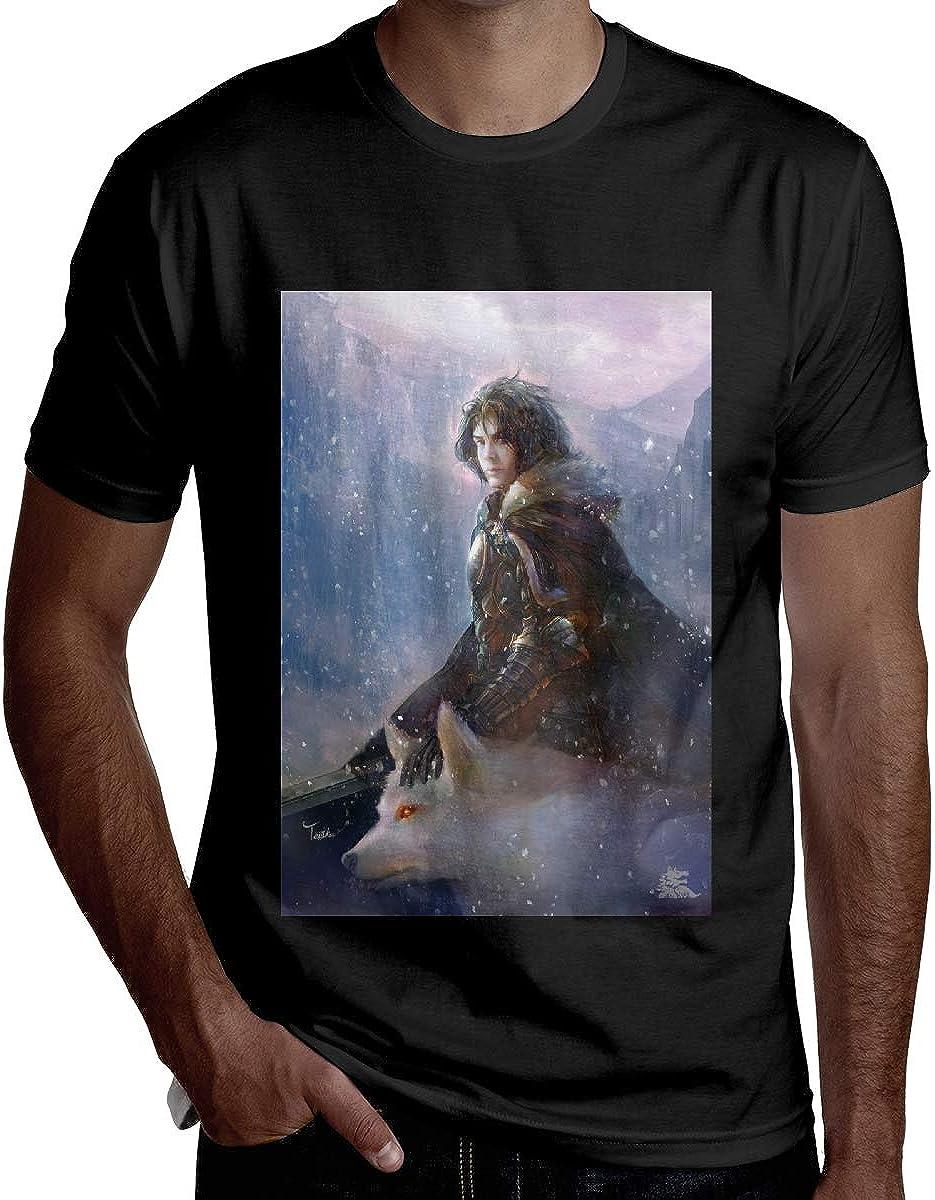 Jurenhq Men Comfortable Game of Thrones Short Sleeve Cool T Shirt Black