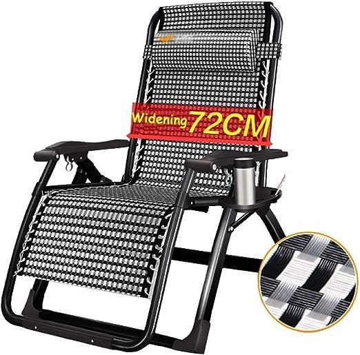 Mueble de jardín / Sillas plegables al aire libre for sillas plegables Cómodas sillas plegables reclinables for jardín Silla reclinable extra ancha for sillas de playa for jardín Cojines Soportes Sill: Amazon.es: