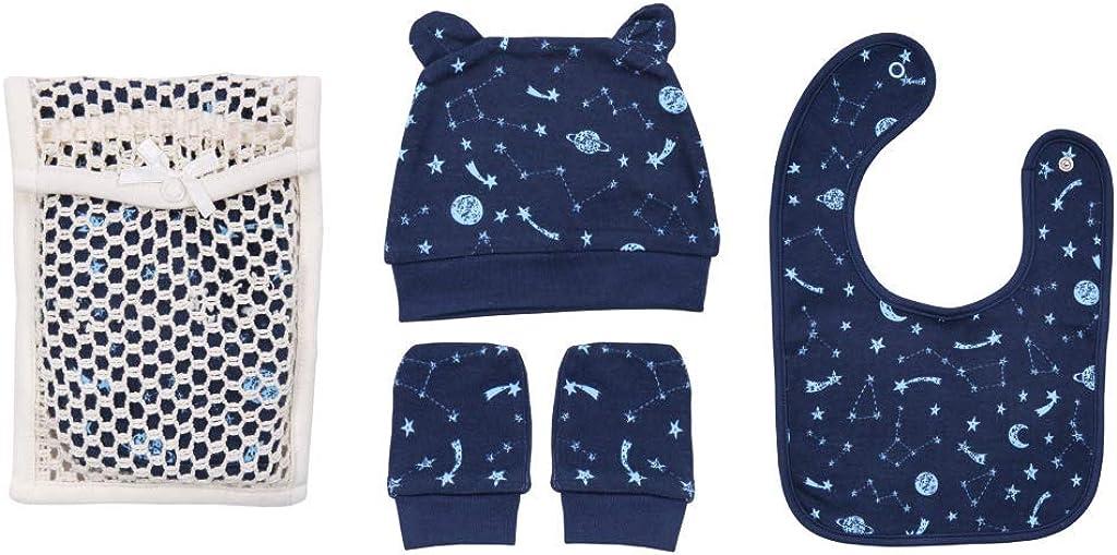 GOTS and Oeko-TEX Certified Organic Cotton 7 Piece Newborn Baby Boy Layette Set Clothes Sets OrganicKid FAIR Trade